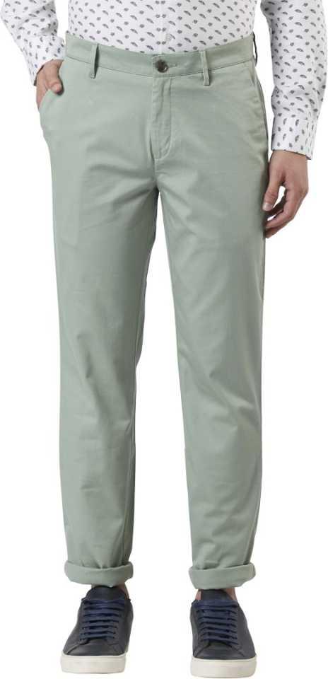 Slim Fit Men Cotton Blend Trousers