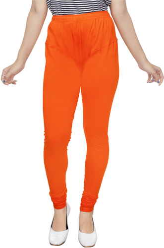 Orange Churidar Leggings