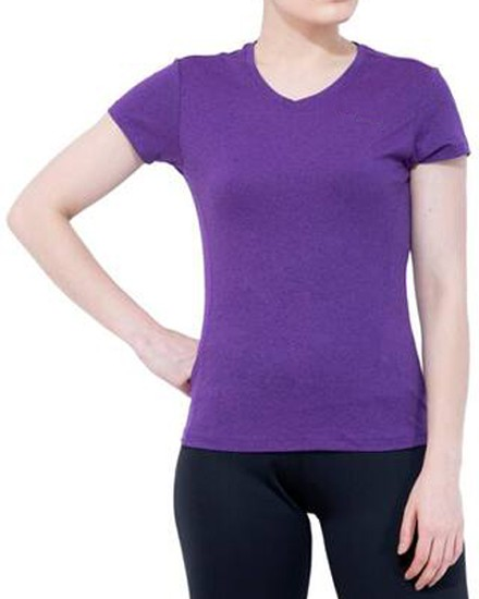Stoc Women Purple Sports T-Shirt