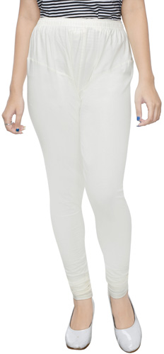 Cream Churidar Leggings