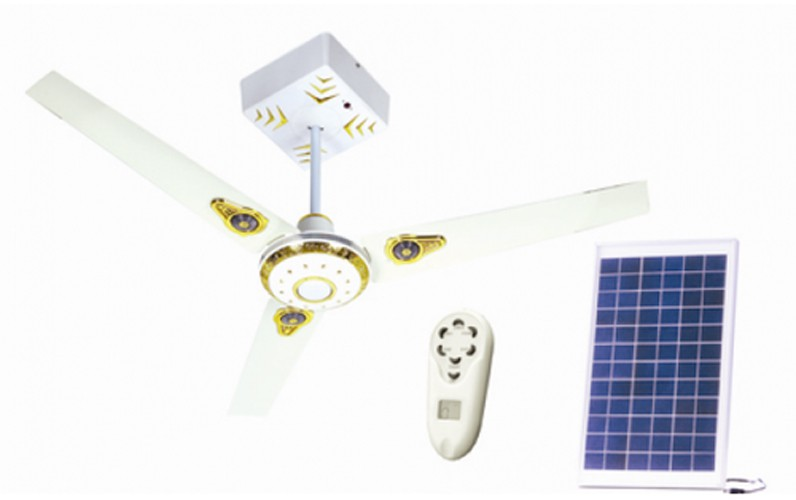 Stoc Metallic Solar Ceiling Fan Limited offer ₹3600   20% Off @Vmaxo