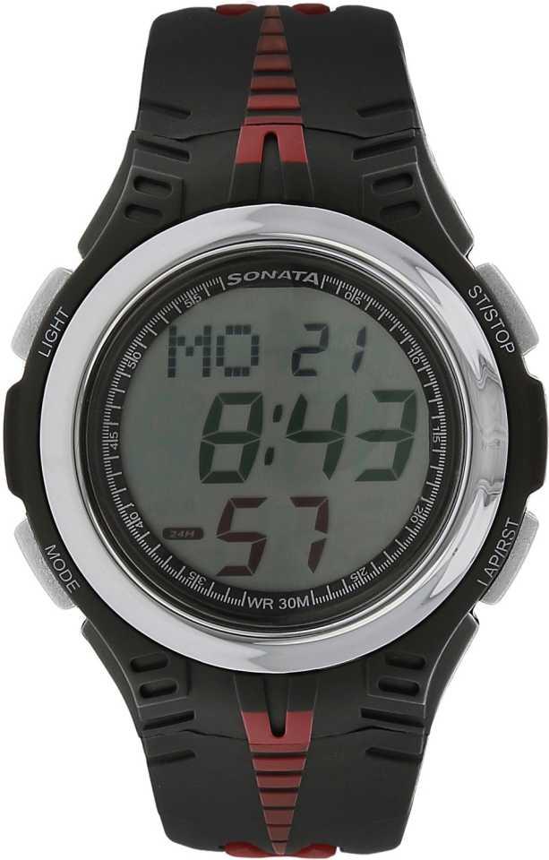 Sonata Digital Watch NN7965PP02 For Men