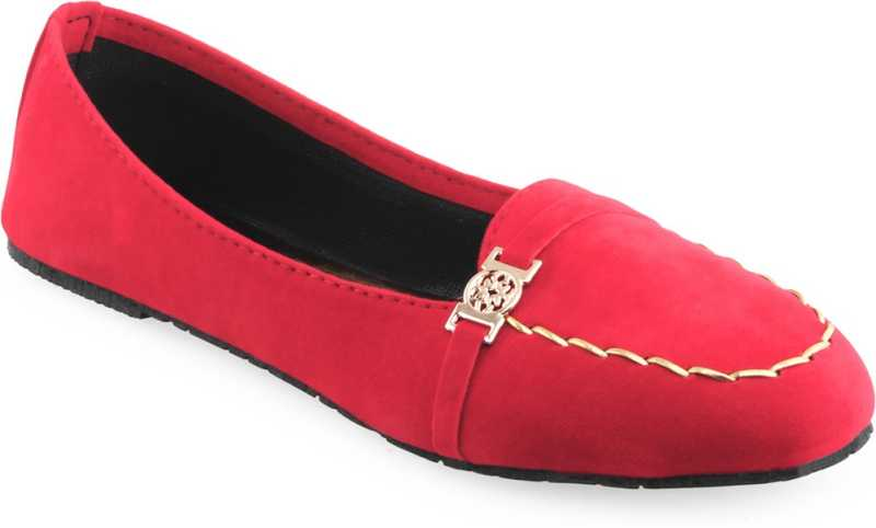 Stoc Red Loafers For Women
