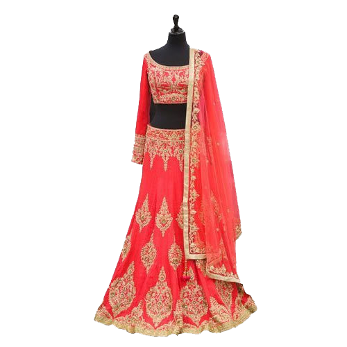 Self Design Lehenga, Choli and Dupatta Set