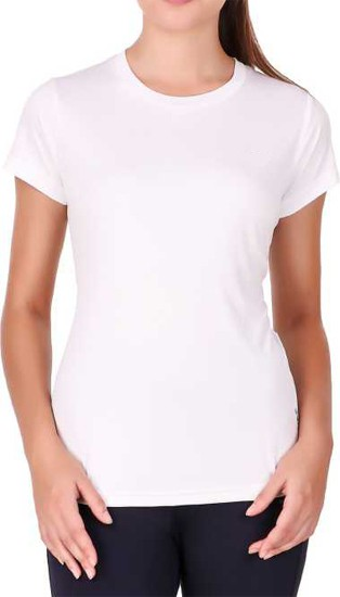 Stoc Women White Sports T-Shirt
