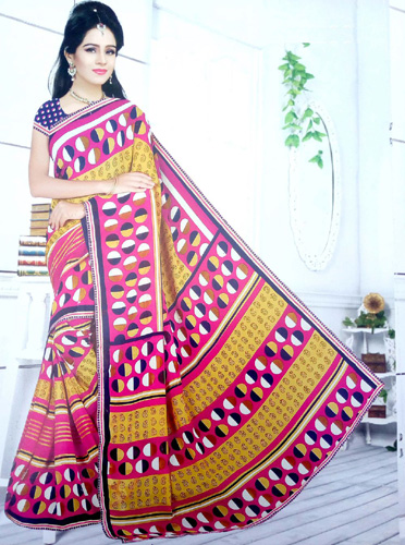 Exclusive synthetics printed saree 54SS450X