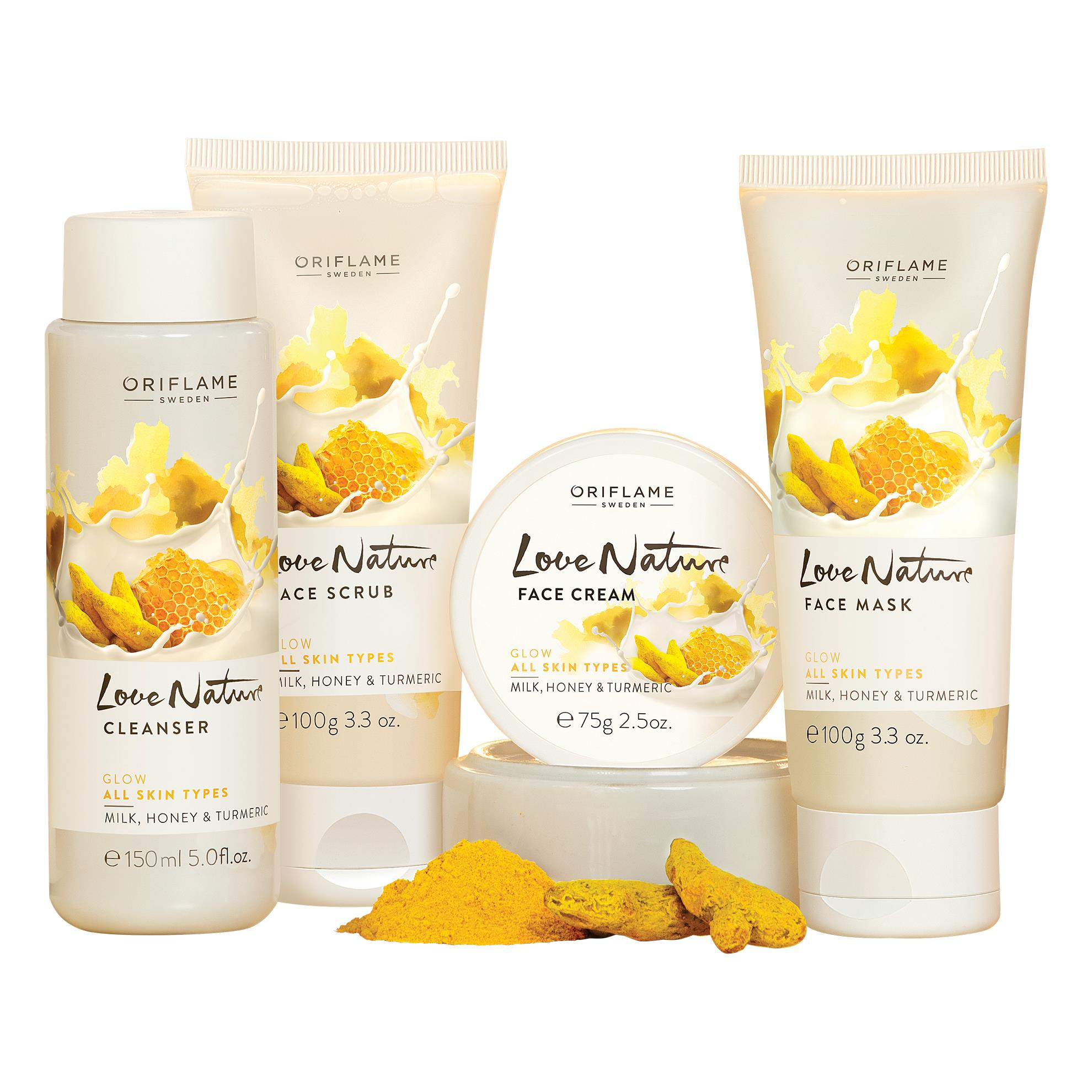 Oriflame Sweden Love Nature Facial Kit- Glow  (4 x 106.25 g)