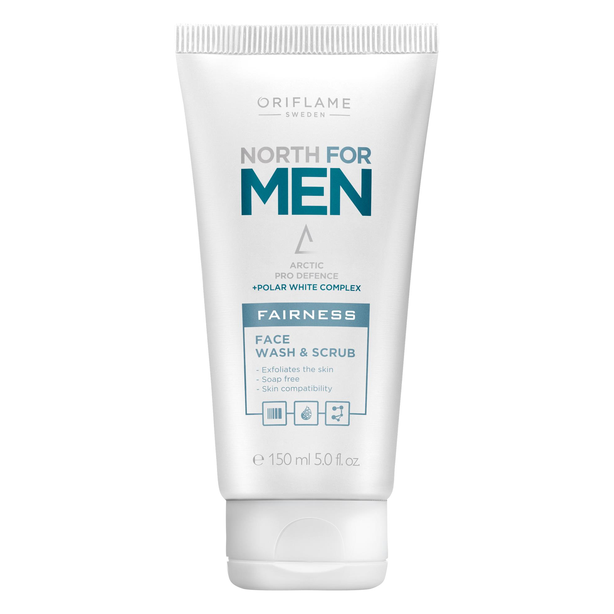 Oriflame Sweden north for men fairness face wash & scrub Face Wash  (150 ml)