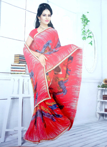 Stylish fancy georgette traditional look saree 54GGT2380X
