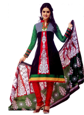 Stoc Bazzar Creation Cotton Printed Salwar Suit Dupatta Material  (Un-stitched)