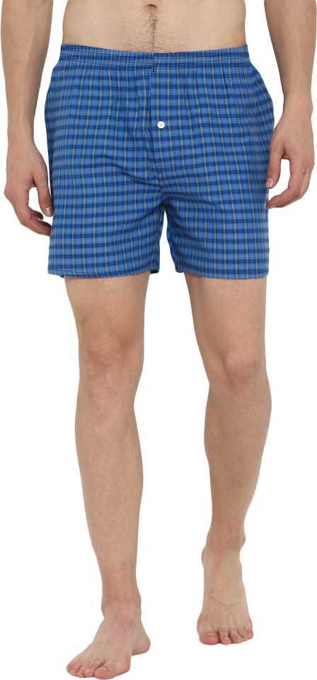 Checked Cotton Mens Boxer Shorts