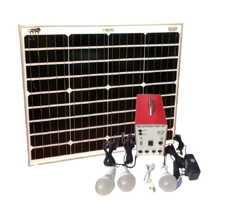 solar green earth renewables india home lighting system