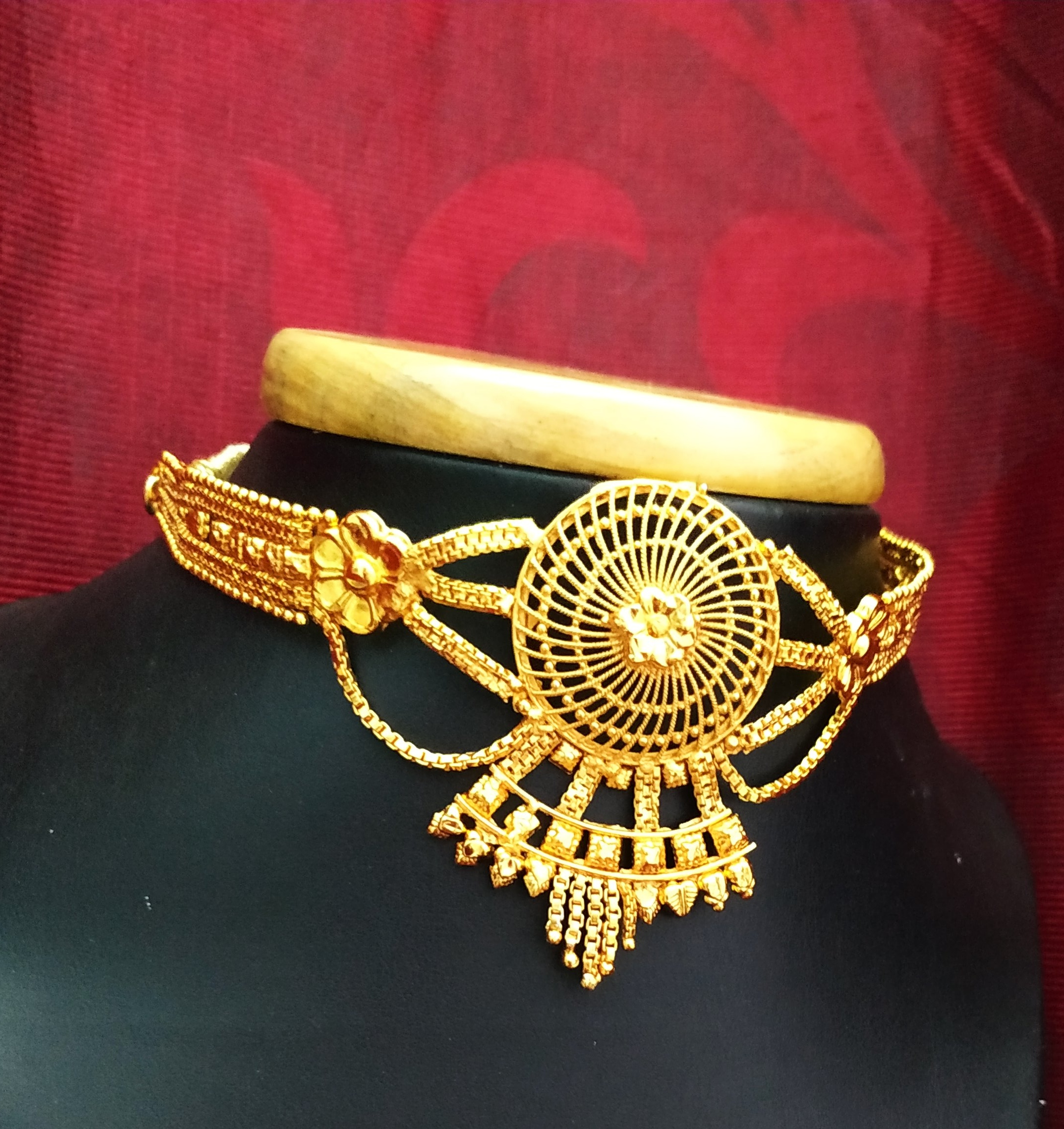 One Gram Gold Plated Bridal Chik