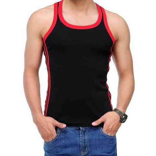 Men Black and Red Innerwear Vest