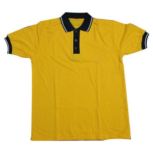 Boys Yellow Pure Cotton T Shirt