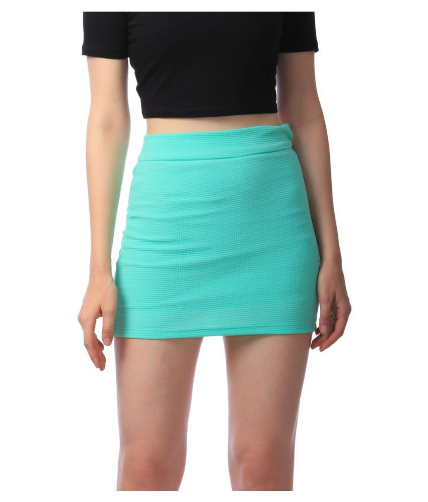 Stoc Women Green Skirt
